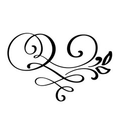 flourish swirl ornate decoration for pointed pen vector image vector image