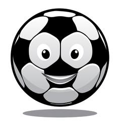 Happy cartoon smiling soccer ball vector image