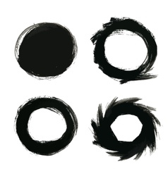 Round Painted Frames and Backs vector image