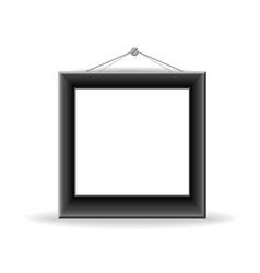 Black picture frame vector image vector image