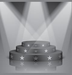 Black scene with white stars and lighting vector
