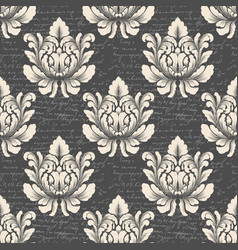 damask seamless pattern background with vector image