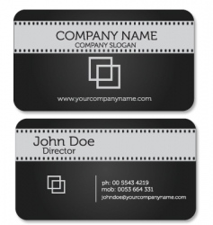 Film business card vector
