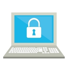 laptop data security system technology vector image