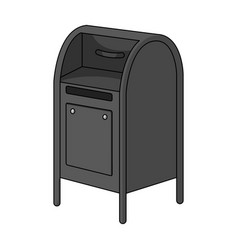 mailboxmail and postman single icon in monochrome vector image vector image
