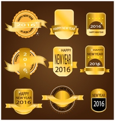 New year 2016 gold banner vector image vector image