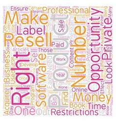 Private Label Resell Rights What You Need to Know vector image vector image