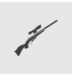 Rifle gun icon vector image