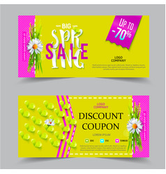 spring sale coupon vector image vector image