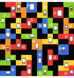 Abstract style modern and vintage mobile gadgets o vector image vector image