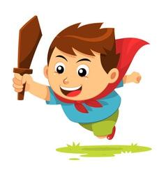 Boy In Action vector image vector image