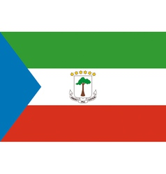 Equatorial Guinean flag vector image