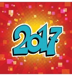 Figures 2017 symbol of the New year vector image vector image