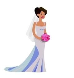 Happy wedding bride vector image