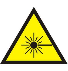 laser radiation sign vector image vector image