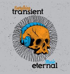 music eternal poster vector image