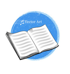 Music sheet notebook vector image