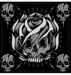 Skulls and Skull Rose shape vector image vector image