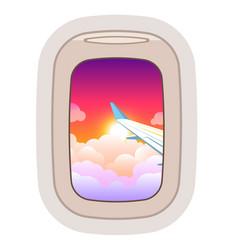 aairplane window traveling plane and vector image