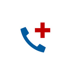 add call logo icon design vector image
