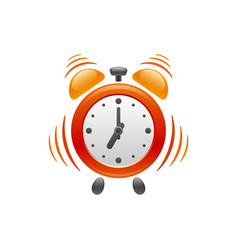 Alarm clock with vibration icon vector