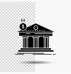 architecture bank banking building federal glyph vector image