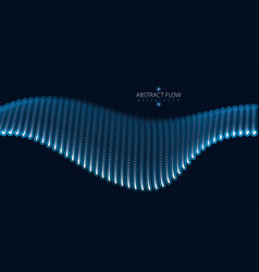 array of particles flowing dynamic sound wave 3d vector image