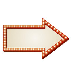 Arrow lights sign vector