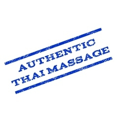 Authentic Thai Massage Watermark Stamp vector image