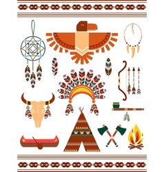 Aztec decorative elements vector
