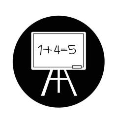 blackboard icon design vector image