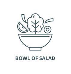 Bowl salad line icon linear concept vector
