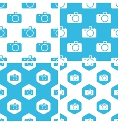 Camera patterns set vector