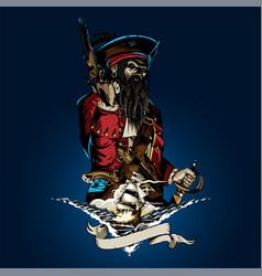Captain corsair vector