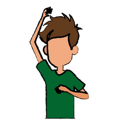 Cartoon boy young character image vector