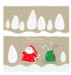 Christmas postcard vector