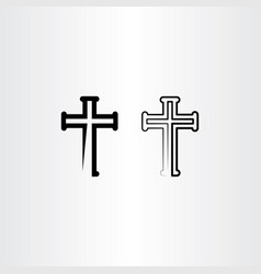 church logo cross icon symbol element vector image