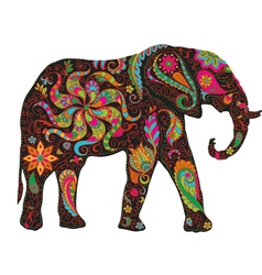 Color elephant vector