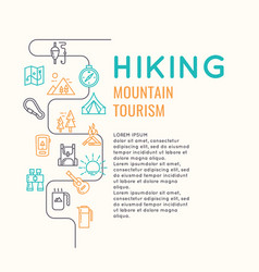 Conceptual for web a hike in the vector