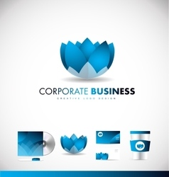 Corporate business lotus flower logo icon design vector