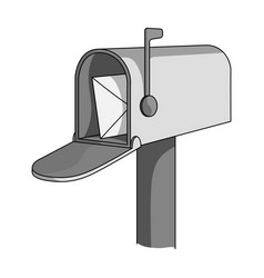 correspondence boxmail and postman single icon in vector image