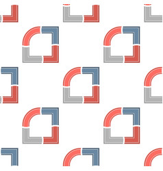 creative charts with arrows the seamless pattern vector image