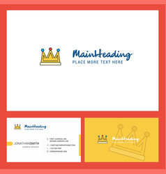 crown logo design with tagline front and back vector image