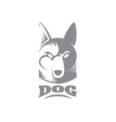 Dog logo template vector