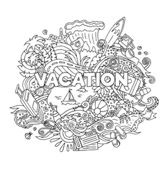 Doodle Summer Vacation vector image