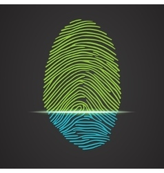 Electronic fingerprint scanner identification vector