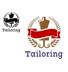 Fashion and tailoring emblem vector image