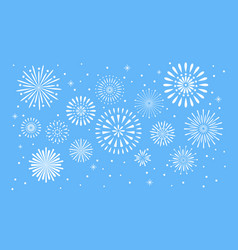 fireworks explosion celebration fuego fire or vector image