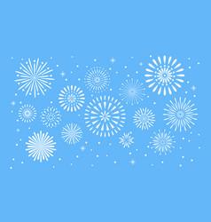 fireworks explosion celebration fuego fire vector image