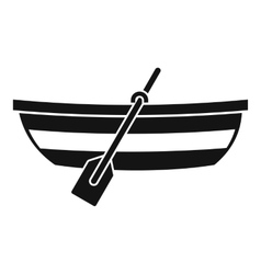 Fishing boat icon simple style vector image